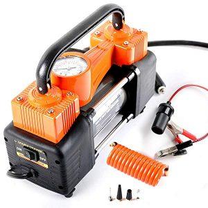 AutoVirazh Dual Cylinder Portable Air Compressor