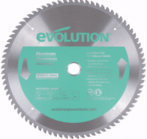 Evolution - Aluminum Cutting Blade For Miter Saw