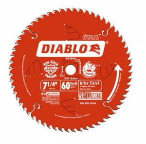Freud D0760X Diablo Ultra Finish Saw Blade